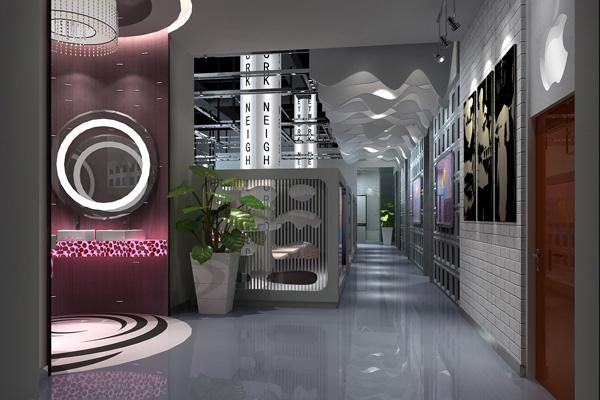 网上邻居网吧-公共空间-其他室内设计-深圳品彦设计