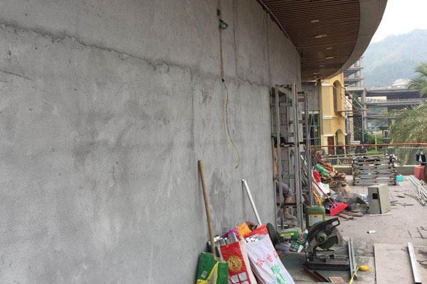 上海海上世界集结地餐吧装修设计现场